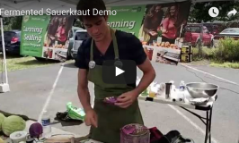 Skya's Live Fermented Sauerkraut Demo