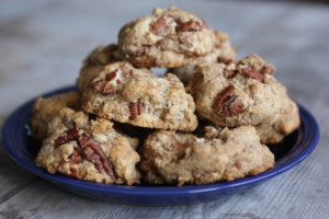 Cinnamon Pecan Cookies (Gluten, Sugar and Dairy Free)