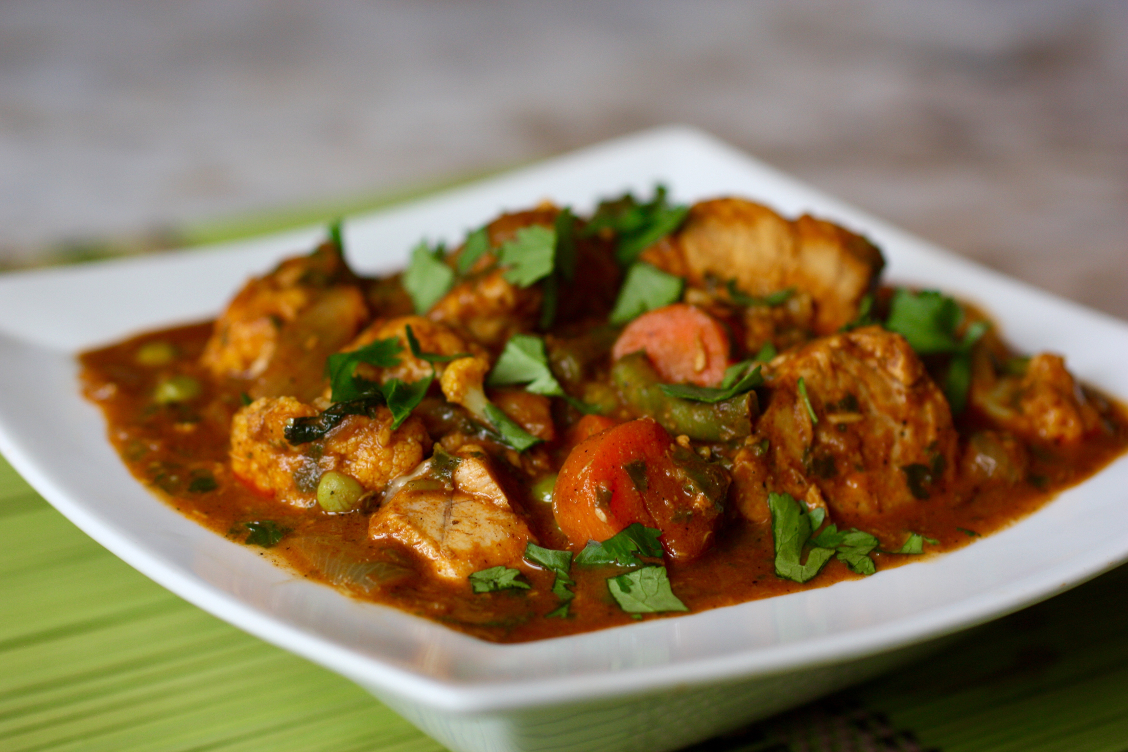 Easy Healing Fish & Vegetable Curry