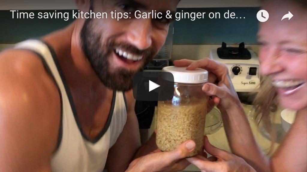 Time Saving Kitchen Tips: Garlic & Ginger on Demand!